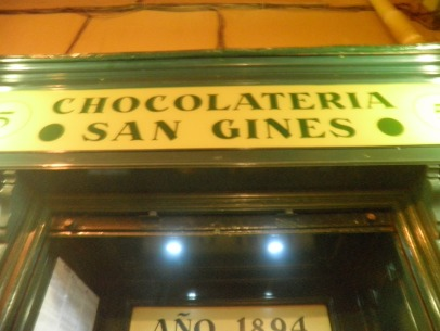 Best spot in Madrid for Churros con chocolate!